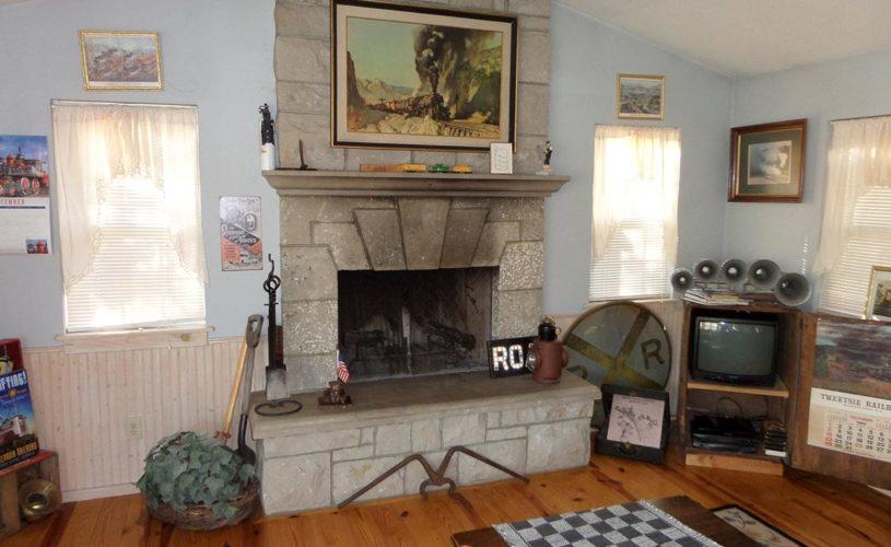 Livingston Junction Depot Cabin Fireplace