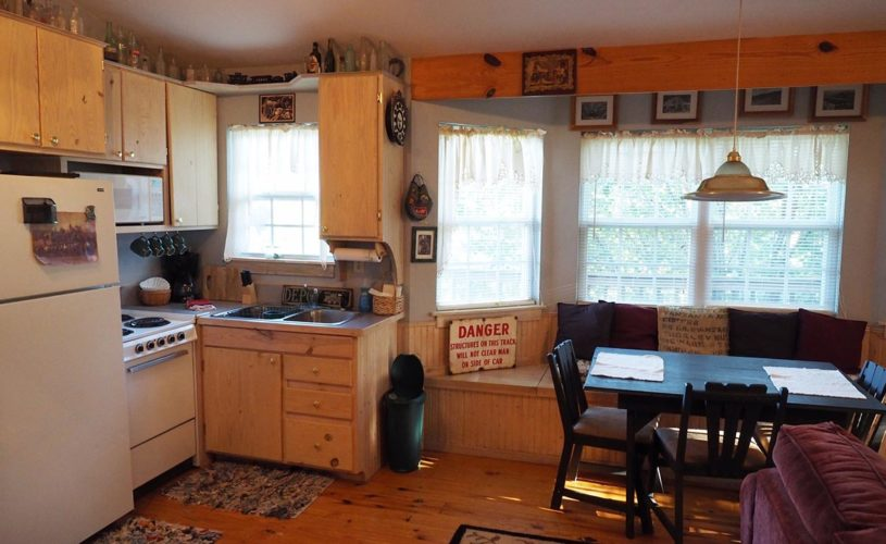 Livingston Junction Depot Cabin Kitchen & Dining